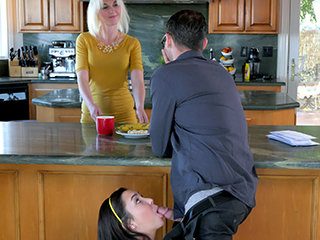 Geneva sucked cock before taking that dick right in her hot pussy
